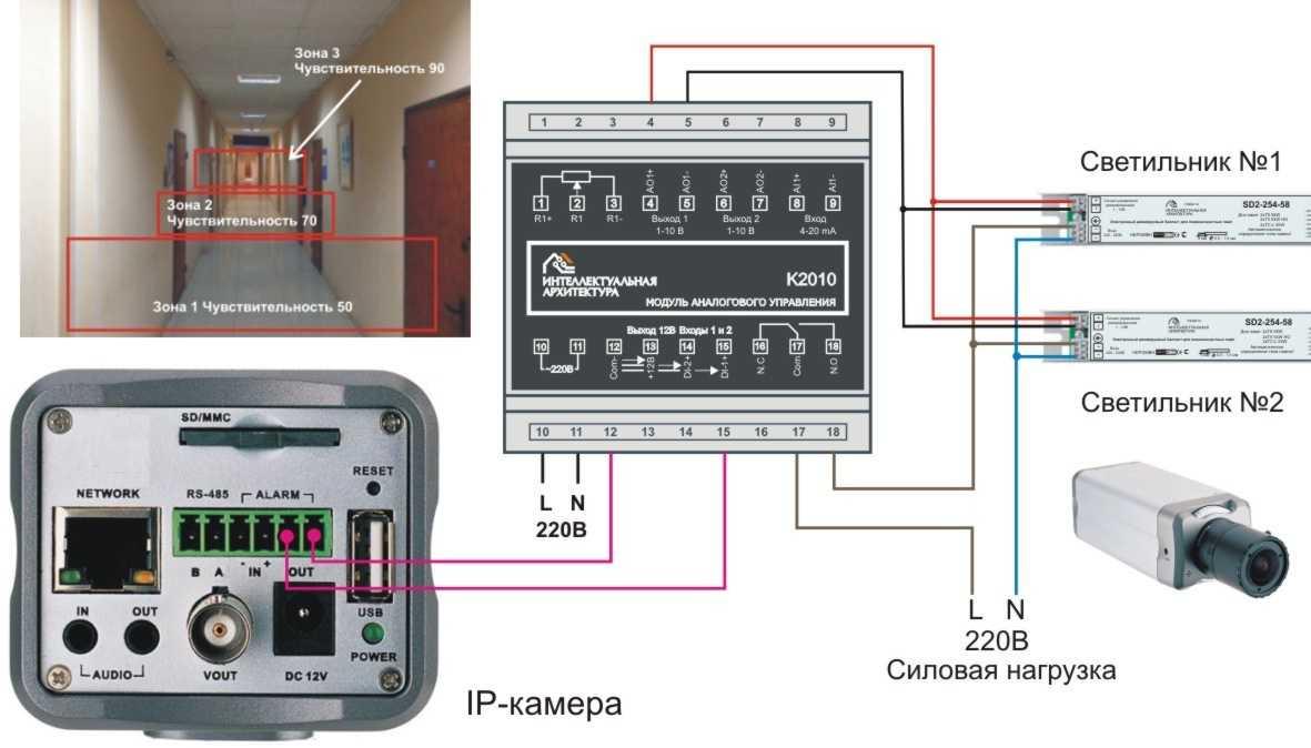 Датчик движения для освещения я покажу вам 3 варианта схемы подключения датчиков движения.
